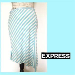 Express Midi Skirt Asymmetrical Style